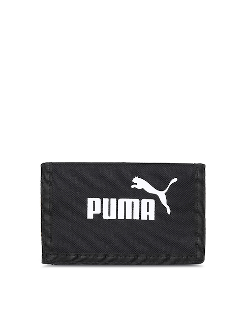 Puma Men Black Printed Three Fold Wallet