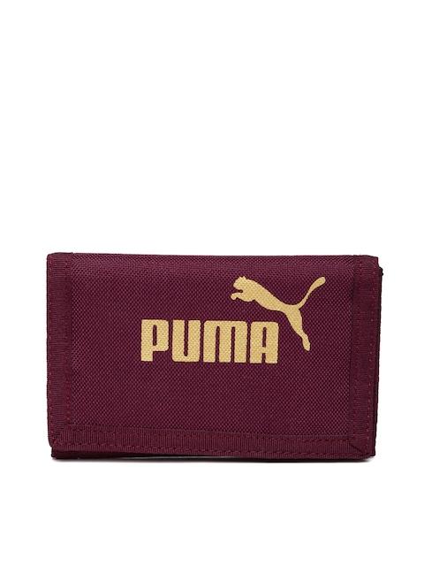 Puma Women Purple Solid Three Fold Wallet