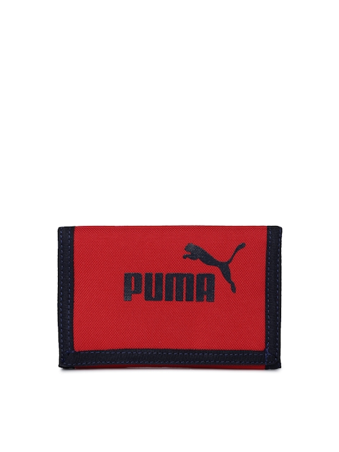 Puma Men Red Printed Three Fold Wallet