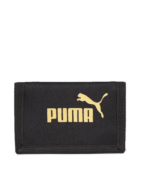 Puma Men Black Printed Three Fold Phase Wallet