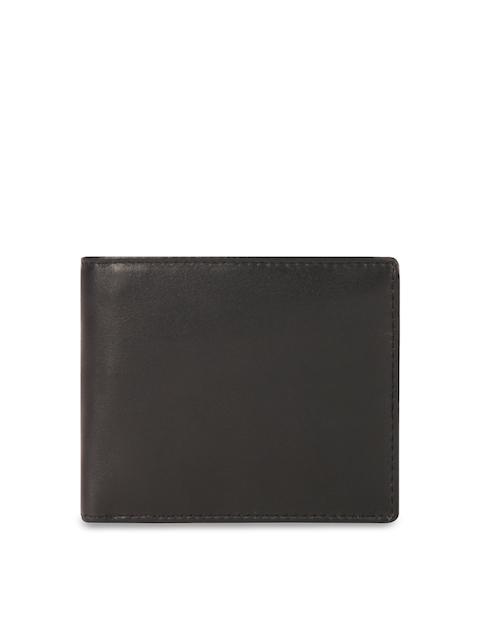 Leather Zentrum Men Black Solid Two Leather Fold Wallet