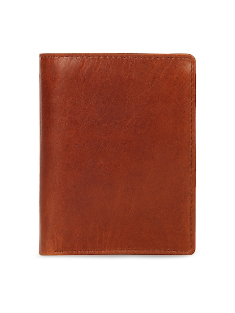 Leather Zentrum Men Tan Solid Genuine Leather Two Fold Wallet