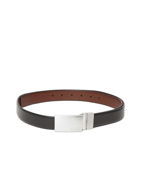 Hidesign Men Black & Brown Leather Solid Reversible Belt