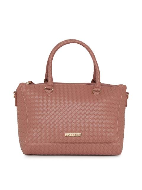 Caprese Pink Textured Handheld Bag