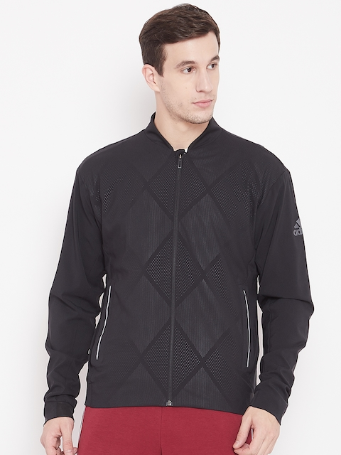 Adidas Men Black Printed Barricade Sporty Jacket