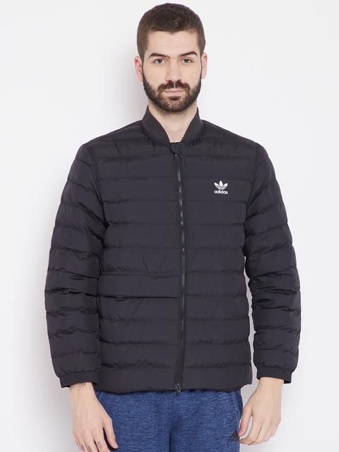 Adidas Originals Men Black SST Outdoor Atric Solid Puffer Jacket