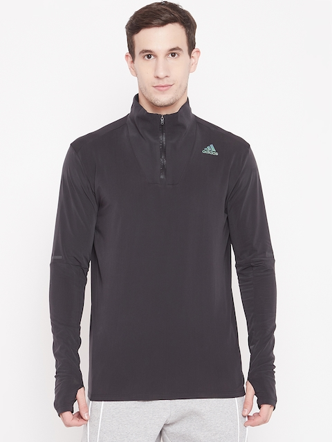Adidas Men Black SN 1/2 Zip Running Sweatshirt