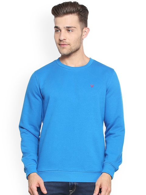 Allen Solly Men Blue Solid Sweatshirt