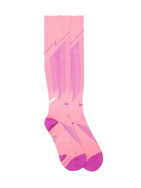 Nike Unisex Pink Elite Lightweight Compression Knee-Length Running Socks