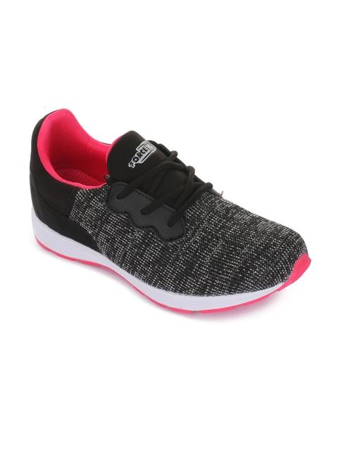 Force 10 Women Black Running Shoes