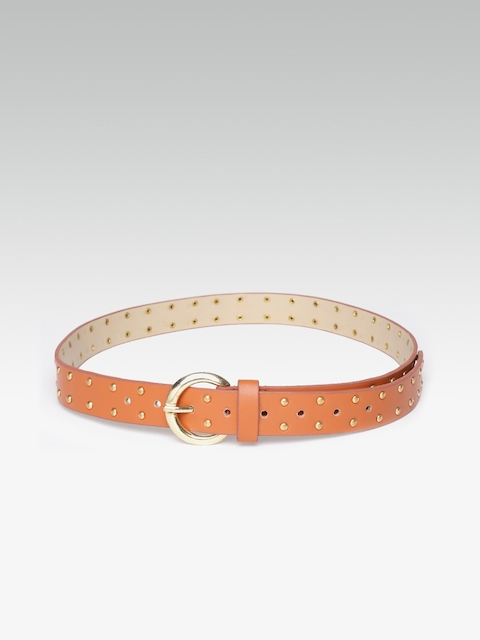 20Dresses Women Tan Embellished Belt