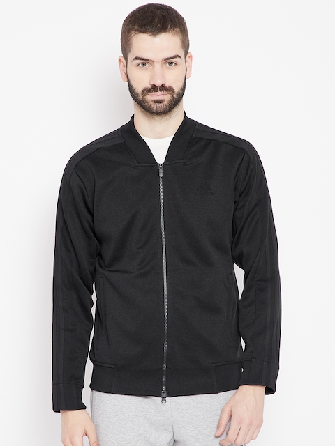 Adidas Men Black Solid ID TRK BMBR Sweatshirt