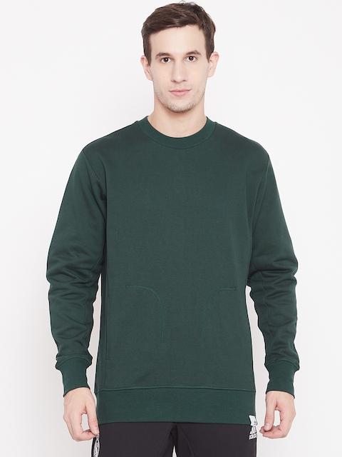 Adidas Originals Men Green Solid X BY O Sweatshirt