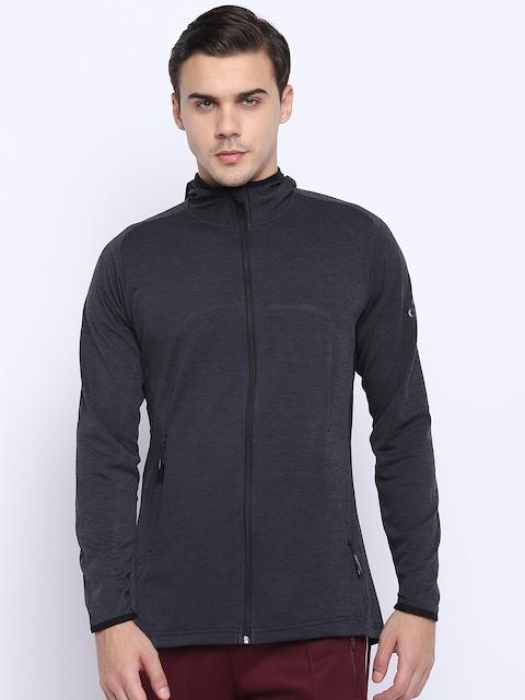 Adidas Men Charcoal Grey WW FZ Climacool Hooded Training Sweatshirt