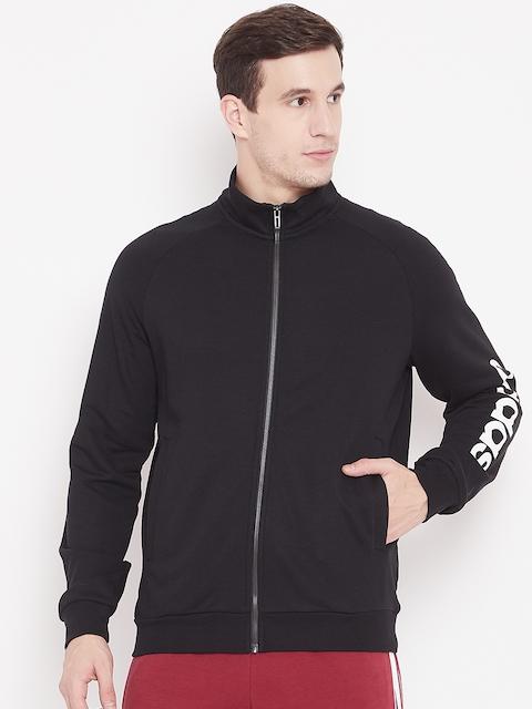 Adidas Men Black Solid Essentials Linear FT Sweatshirt