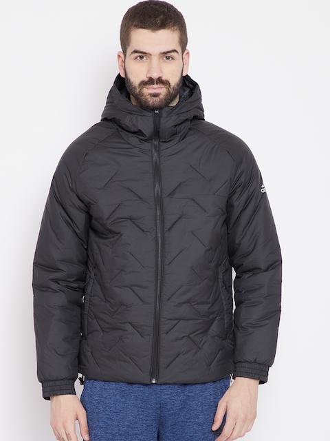 Adidas Men Black Hooded BTS Outdoor Jacket