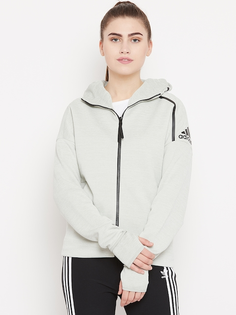 Adidas Women Light Green Z.N.E. Fast Release Hooded Sweatshirt