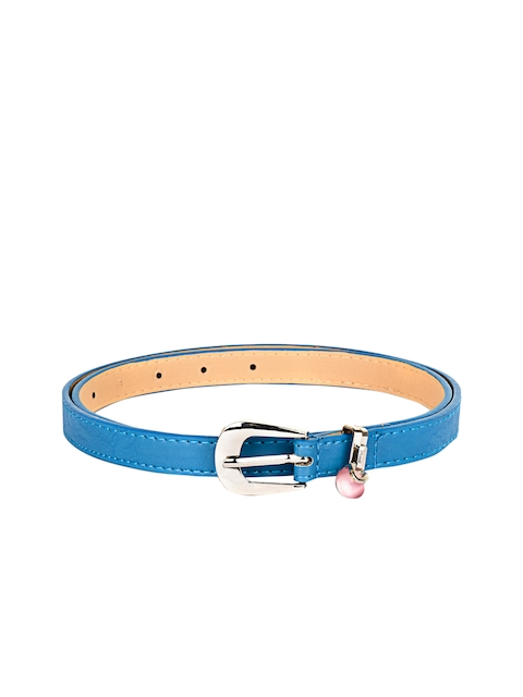 BuckleUp Women Blue Solid Synthetic Leather Belt