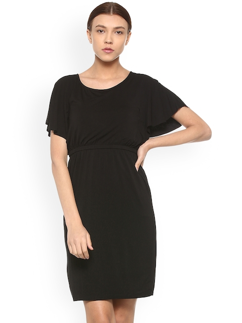 Van Heusen Woman Black Solid Fit and Flare Dress