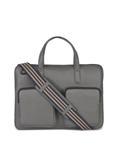 Phive Rivers Men Grey Solid Laptop Bag