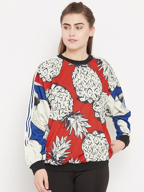 Adidas Originals Red & Beige BF Printed Sweatshirt