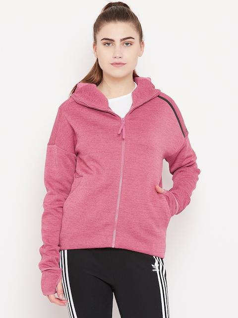 Adidas Women Pink Z.N.E. Fast Release Hooded Sweatshirt