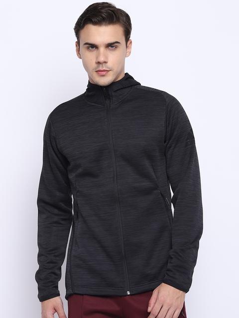 Adidas Men Black Freelift TRH 360 Climaheat Hooded Training Sweatshirt