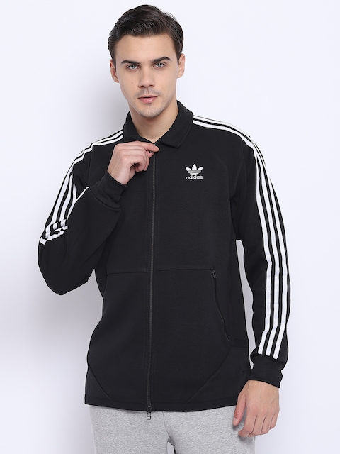 Adidas Originals Men Black Windsor Solid Sporty Jacket