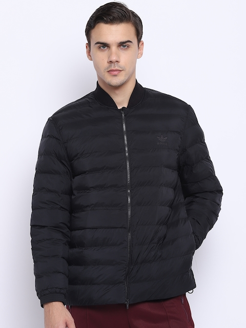 Adidas Originals Men Black SST Outdoor Atric Solid Puffer Jacket