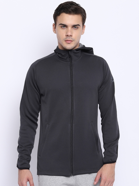 Adidas Men Black WW FZ Entry Hooded Sweatshirt
