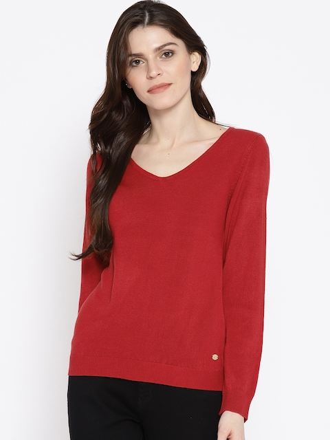 U.S. Polo Assn. Women Red Solid Pullover