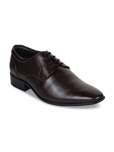 Bruno Manetti Men Brown Formal Synthetic Leather Derbys