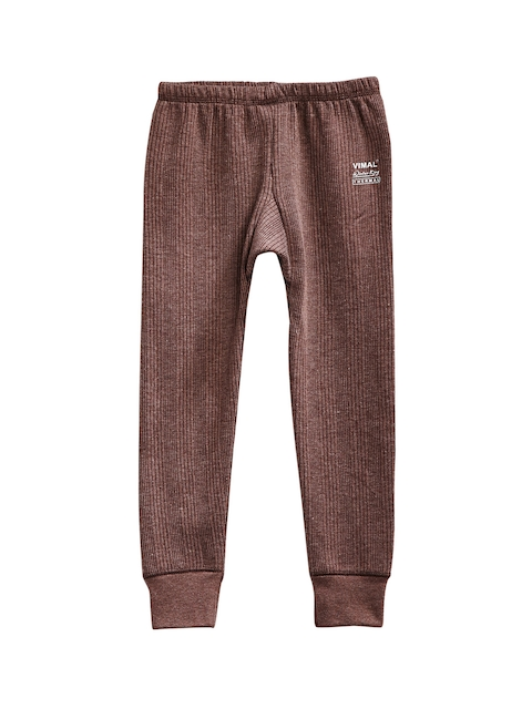 VIMAL JONNEY Boys Brown Thermal Bottoms