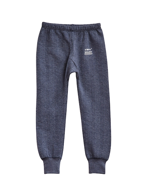 VIMAL JONNEY Boys Navy Blue Thermal Bottoms
