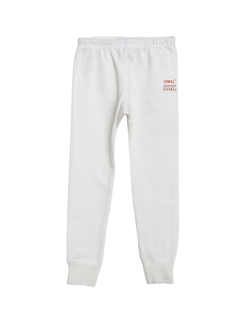 VIMAL JONNEY Boys White Thermal Bottoms