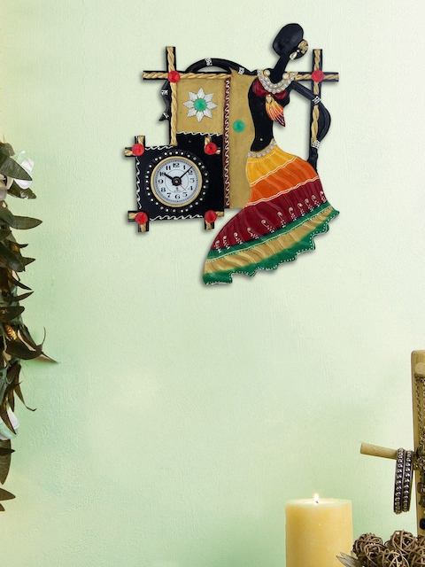 999Store Multicoloured Quirky Embellished Analogue Wall Clock