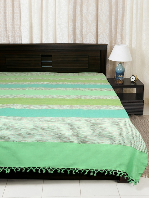 EverHOME Green Woven Cotton Bed Cover