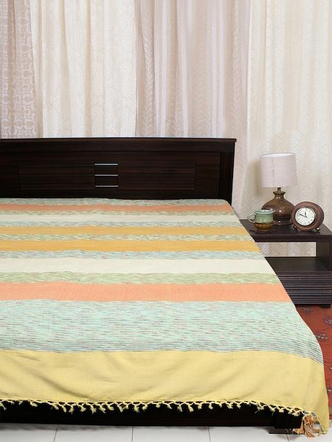 EverHOME Multi-Colored Woven Cotton Bed Cover