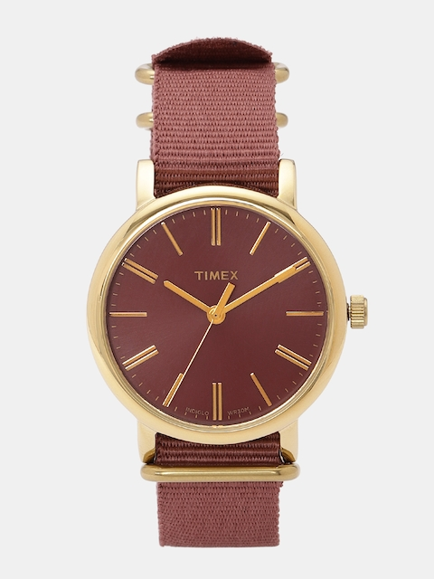 Timex Women Brick Red Analogue Watch TW2P78200