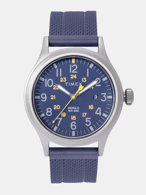 Timex Men Navy Blue Analogue Watch TW2R61100