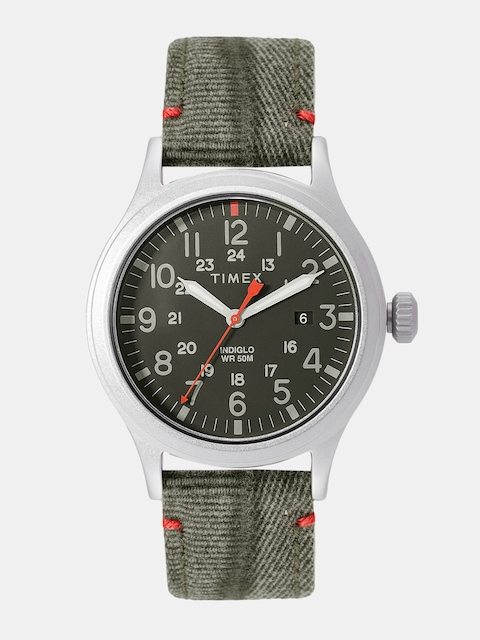 Timex Men Olive Green Analogue Watch TW2R60900