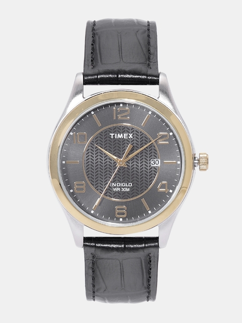 Timex Men Gunmetal-Toned Analogue Watch T2P450_OR