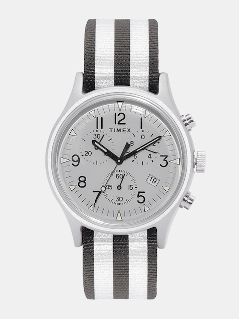 Timex Men Grey Reversible Strap Chronograph Watch TW2R81300