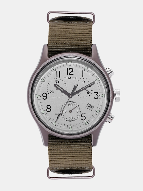Timex Men Silver-Toned Chronograph Watch TW2R67900