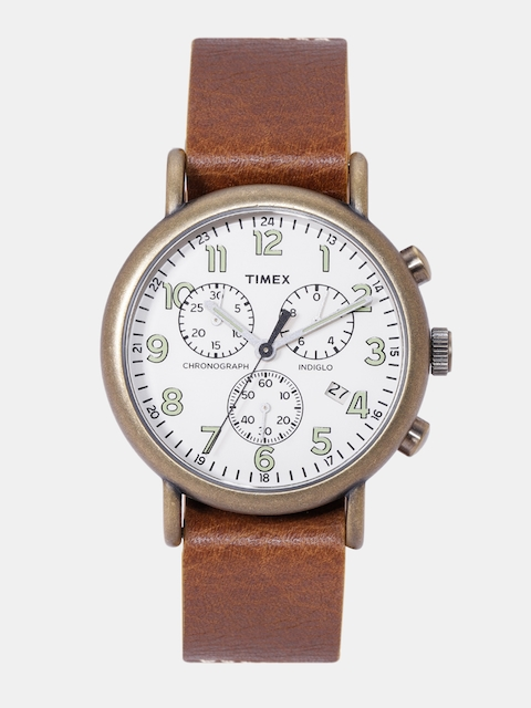 Timex Men Off-White Chronography Watch TW2P85300_OR