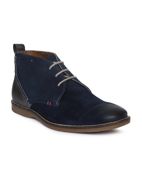 Ruosh Men Navy Blue Flat Boots