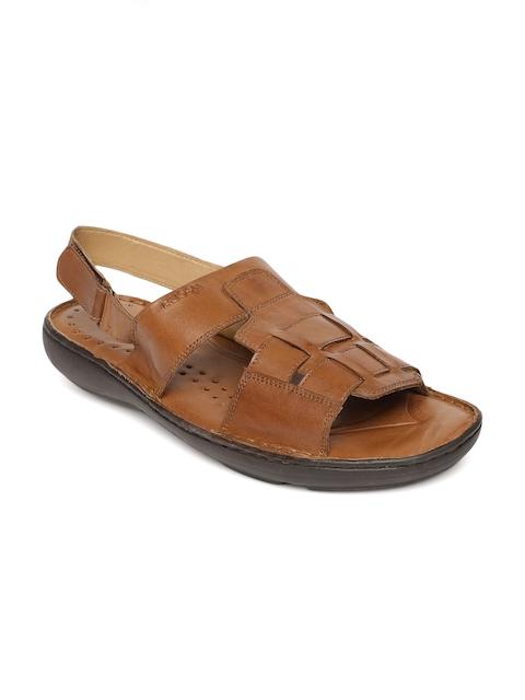 Ruosh Men Brown Leather Fisherman Sandals