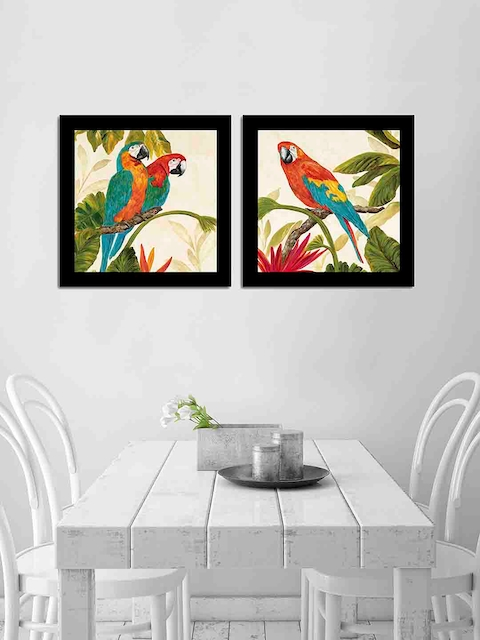 Art Street Set of 2 Parrot Wall Paintings