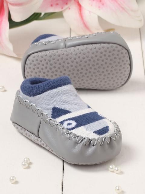 Walktrendy Unisex Kids Grey Slip-On Booties