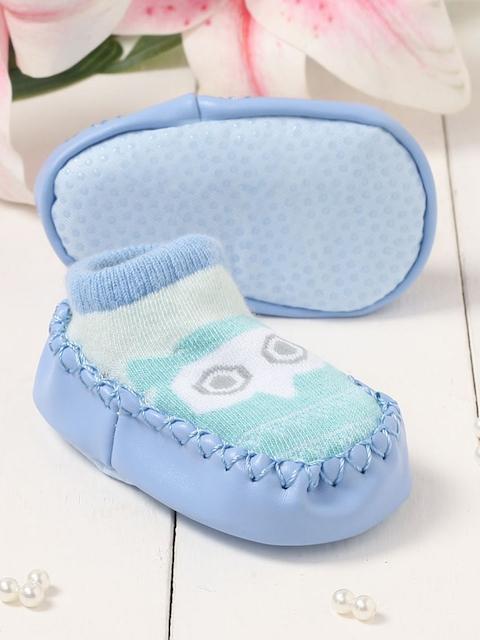 Walktrendy Unisex Kids Blue Slip-On Booties